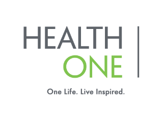TO - HealthOne Logo. One Life. Live Inspired.